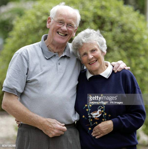 Roy and Shirley Erskine the grandparents of tennis player Andrew Murray at their home in Dunblane waiting for the start of his 3rd round match at...
