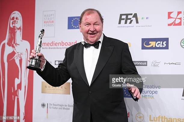 Roy Andersson with award during the European Film Awards 2015 at Haus Der Berliner Festspiele on December 12, 2015 in Berlin, Germany.