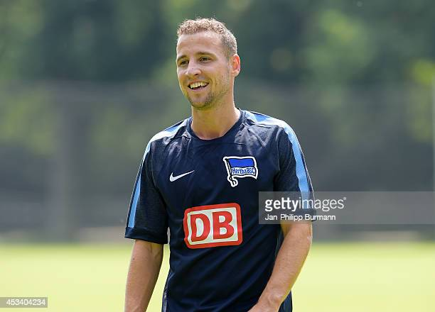 Roy Beerens during his first trainings session on july 10, 2014 in Berlin, Germany.