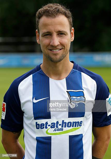Roy Beerens of Hertha BSC poses during the Hertha BSC Team Presentation on July 12 2016 in Berlin Germany
