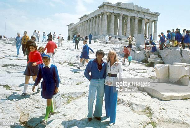 Roy Black Ehefrau Silke Vagts Flitterwochen Akropolis Athen Griechenland Europa Urlaub Denkmal A CK Promi Foto PBischoff Sc