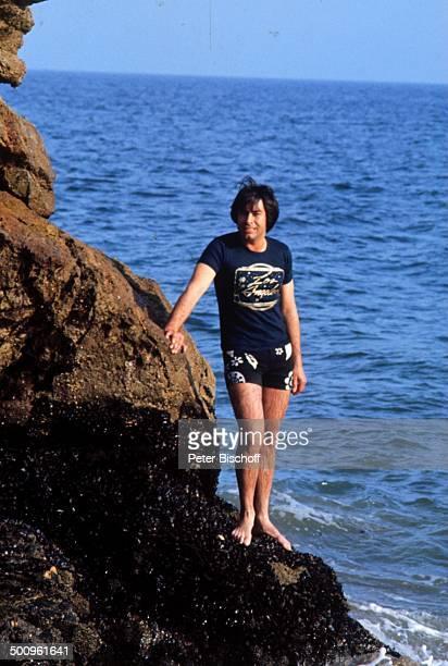 Roy Black San Francisco Kalifornien Amerika USA Urlaub Atlantik Meer Felsen Badehose Ganzkörper Promi Foto PBischoff
