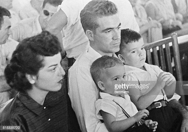 Roy Bryant one of two men charged with the kidnapping and lynching of 14yearold Emmett Till of Chicago sits in court on the opening day of the trial...