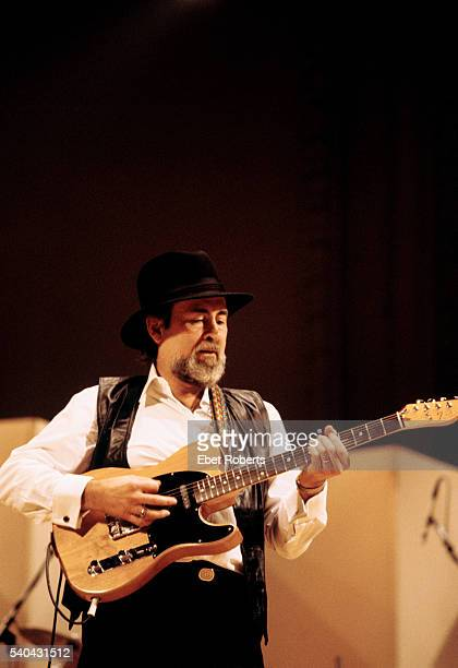Roy Buchanan performing with Albert Collins and Lonnie Mack at a 'Guitar Greats' Concert at Carnegie Hall in New York City on December 6 1985