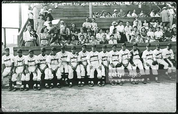 Roy Campanella far right poses with his Mexican League teammates in 1949 in Monterrey Mexico