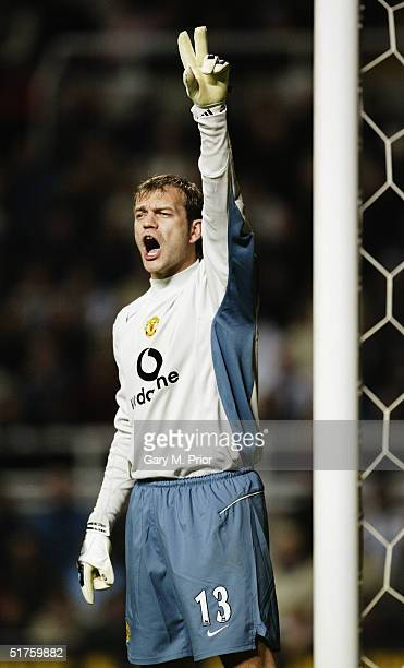 Roy Carroll of Manchester United during the FA Barclays Premiership match between Newcastle United and Manchester United at St James's Park on...