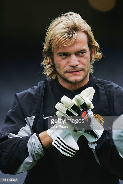 Roy Carroll of Manchester United in action during a training session at the start of their 2004 USA Tour which will take in preseason friendly...