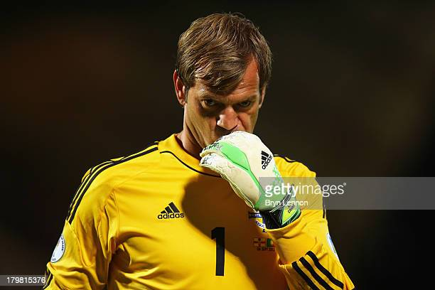 Roy Carroll of Northern Ireland looks on during the FIFA 2014 World Cup Qualifying Group F match between Northern Ireland and Portugal at Windsor...