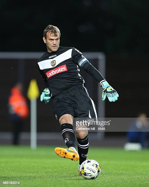 Roy Carroll of Notts County during the Sky Bet League Two match between Oxford United and Notts County at Kassam Stadium on August 18, 2015 in...