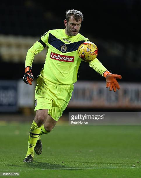Roy Carroll of Notts County in action during the Sky Bet League Two match between Notts County and Northampton Town at Meadow Lane on November 21,...