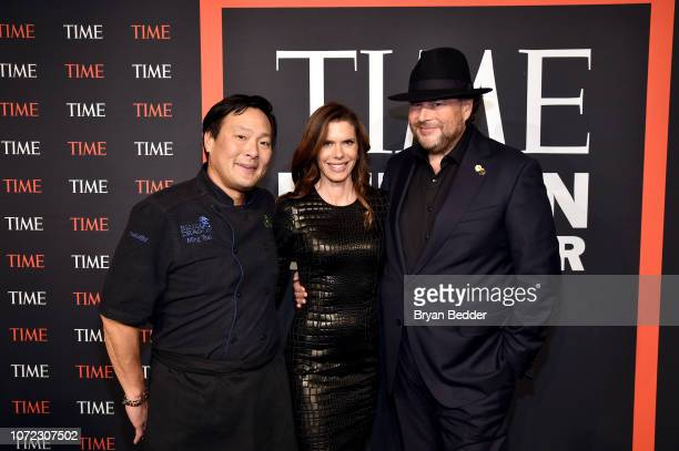 Roy Choi Lynne Benioff and Marc Benioff attend the TIME Person Of The Year Celebration at Capitale on December 12 2018 in New York City