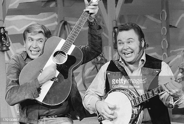 Roy Clark, right, and Buck Owens on HEE HAW. Image dated December 10, 1970.