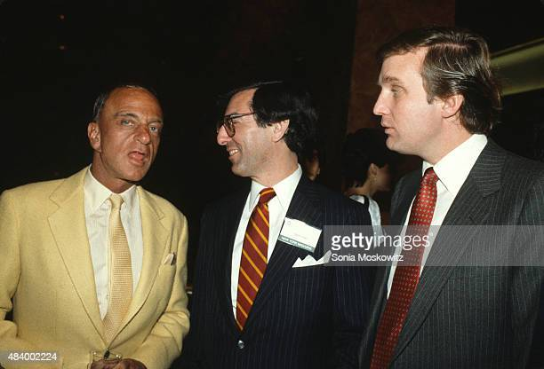 Roy Cohn, Ed Kosner and Donald Trump.