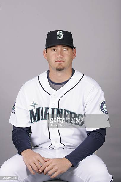 Roy Corcoran of the Seattle Mariners poses for a portrait during photo day at Peoria Sports Complex on February 21 2008 in Peoria Arizona