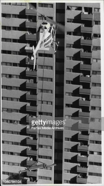 Roy Cullen inspector Dept of Industrial Relations PR Dept of Housing Commission NSW Helicopter Charter Pty Ltd MascotThe two 29 floor tall housing...