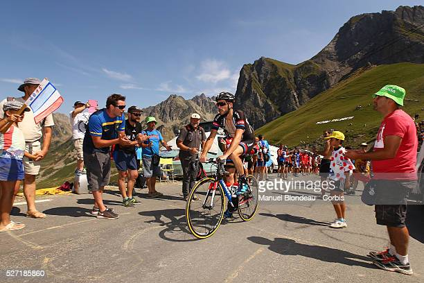 Roy Curvers of Netherlands riding for Team Giant-Alpecin is pictured as he climbs the col du Tourmalet during the 2015 Tour of France, Stage 11, Pau...