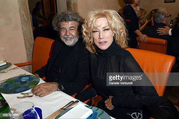 Roy de Vita and Nancy Brilli attend Ambi Pictures Rome Party at Hostaria dell'Orso - La Cabala on September 26, 2014 in Rome, Italy.