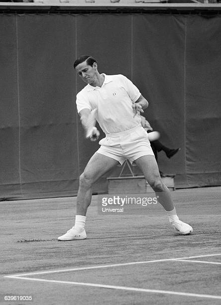 Roy Emerson from Australia during the 1965 French Internationals at Roland Garros