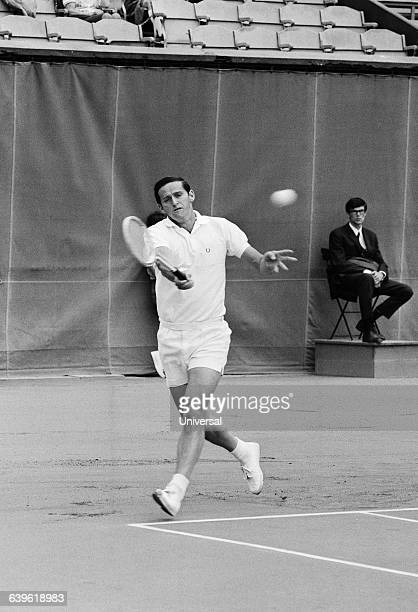 Roy Emerson from Australia during the 1968 Roland Garros French Open tennis tournament