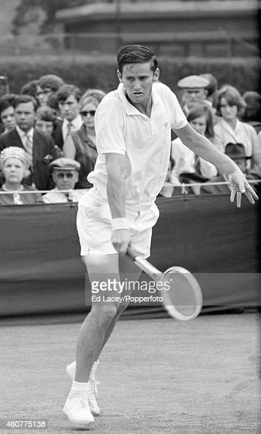 Roy Emerson of Australia in action at Wimbledon circa June 1964 Emerson won the Men's Singles Final beating countryman Fred Stolle 61 1210 46 63