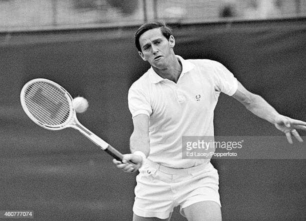 Roy Emerson of Australia in action at Wimbledon circa June 1967 Emerson lost in the fourth round to Nikola Pilic of Croatia in four sets