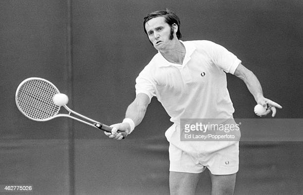 Roy Emerson of Australia in action at Wimbledon circa June 1971 Emerson lost in the fourth round to Stan Smith of the United States in four sets