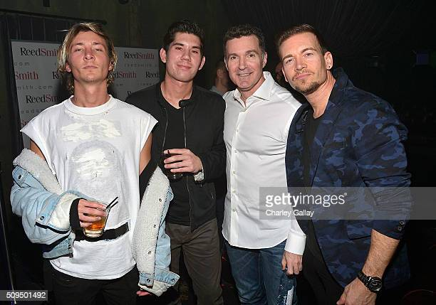 Roy English Dan Griffin Reed Smith's Ed Shapiro and Damon Sharpe attend the Reed Smith GRAMMY Party at The Sayers Club on February 10 2016 in...