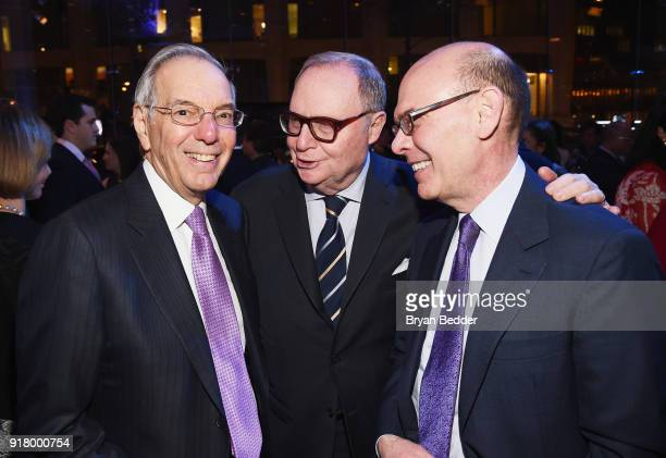Roy Furman Tom Lee and guest attend the Winter Gala at Lincoln Center at Alice Tully Hall on February 13 2018 in New York City