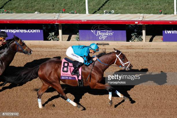 Roy H with Kent Desormeaux up wins the Breeders Cup Sprint at Del Mar Race Track on November 4 2017 in Del Mar California