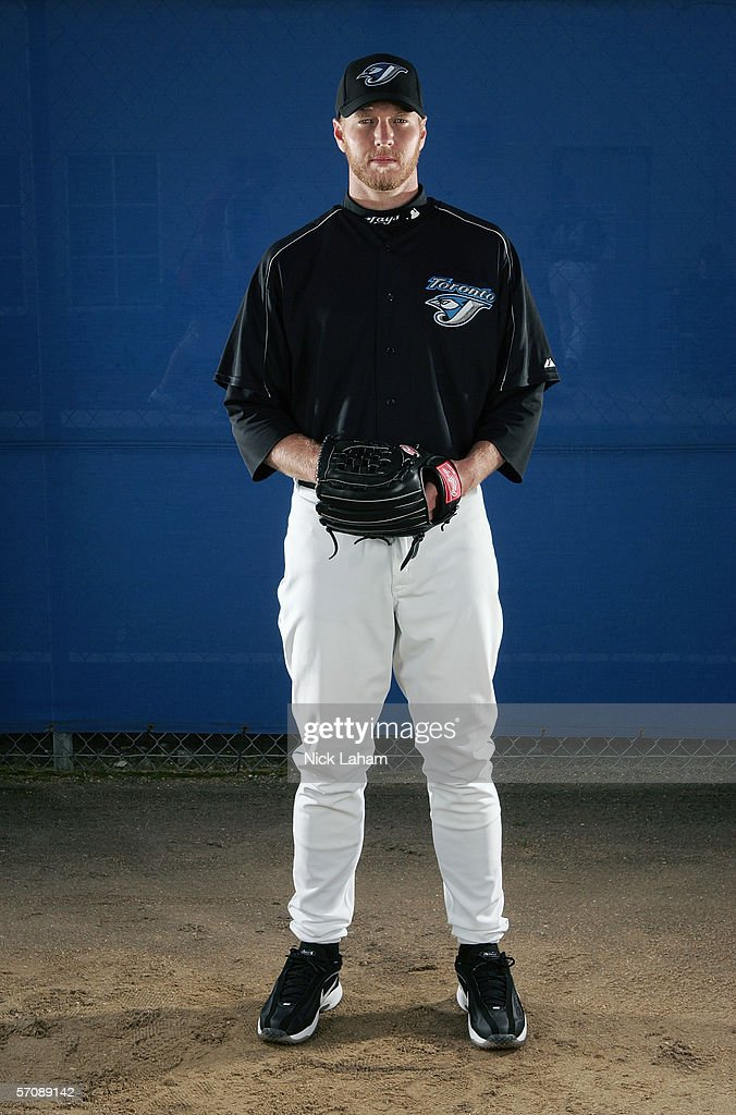 Roy Halladay of the Blue Jays poses for a portrait during the Toronto Blue Jays Photo Day at the Bobby Mattick Training Center on February 25, 2006 in Dunedin, Florida.