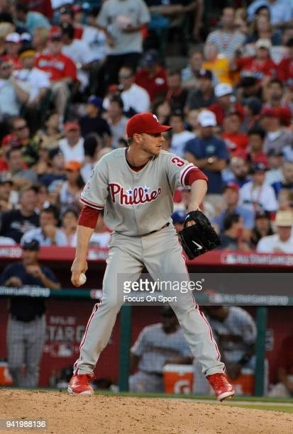 Roy Halladay of the Philadelphia Phillies and the National League AllStars pitches against the American League All Stars during the MLB AllStar Game...