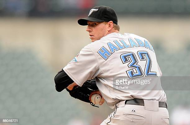 Roy Halladay of the Toronto Blue Jays pitches against the Baltimore Orioles at Camden Yards on May 27 2009 in Baltimore Maryland