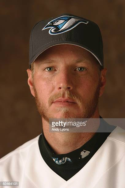 Roy Halladay of the Toronto Blue Jays poses for a portrait during photo day at the Bobby Mattick Training Center on February 28 2005 in Dunedin...