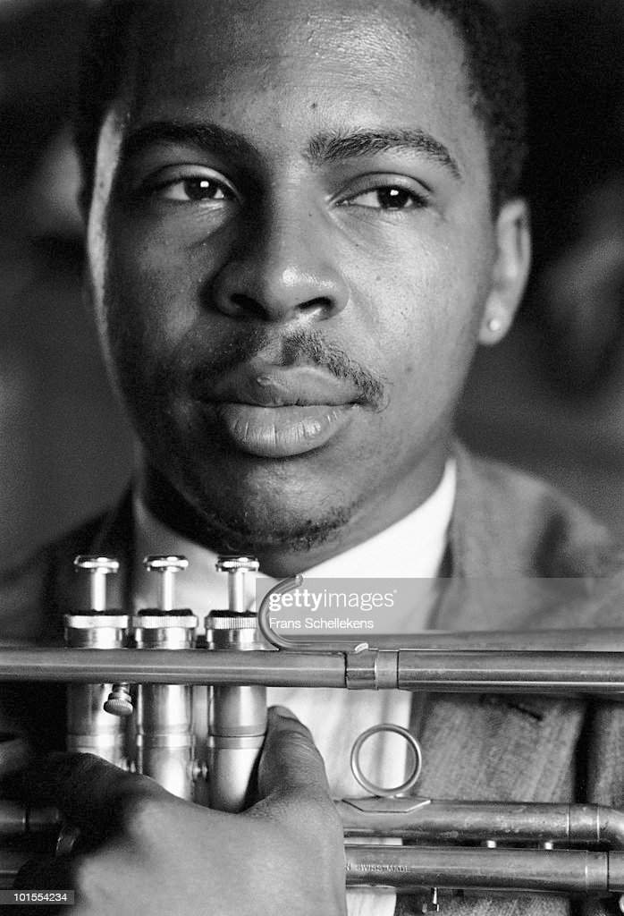 Roy Hargrove posed with trumpet at the North Sea Jazz festival in the Hague, Holland on July 14 1996