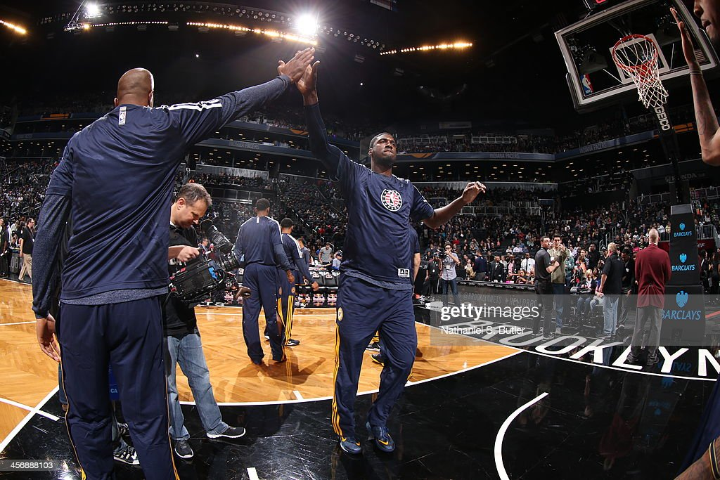 Roy Hibbert #55 of the Indiana Pacers walks onto the court during pregame against the Brooklyn Nets during a game at Barclays Center on November 9, 2013 in the Brooklyn borough of New York City.