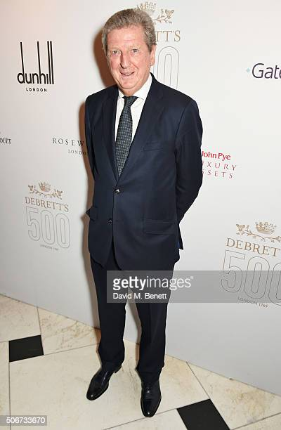 Roy Hodgson attends Debrett's 500 party hosted at Rosewood London on January 25 2016 in London England Debrett's 500 recognises the most influential...