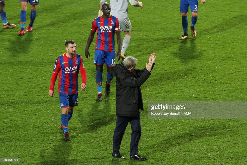 Roy Hodgson head coach / manager of Crystal Palace applauds the fans during the Premier League match between West Bromwich Albion and Crystal Palace at The Hawthorns on December 2, 2017 in West Bromwich, England.