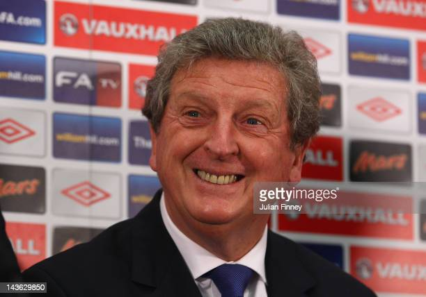 Roy Hodgson is unveiled as the new England manager during a press conference at Wembley Stadium on May 1, 2012 in London, England.