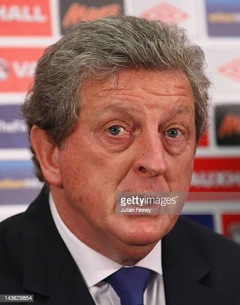 Roy Hodgson is unveiled as the new England manager during a press conference at Wembley Stadium on May 1 2012 in London England