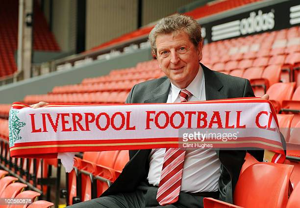 Roy Hodgson is unveiled as the new Liverpool FC manager at Anfield on July 01, 2010 in Liverpool, England.