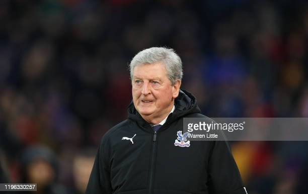 Roy Hodgson, Manager of Crystal Palace looks on ahead of the Premier League match between Crystal Palace and West Ham United at Selhurst Park on...