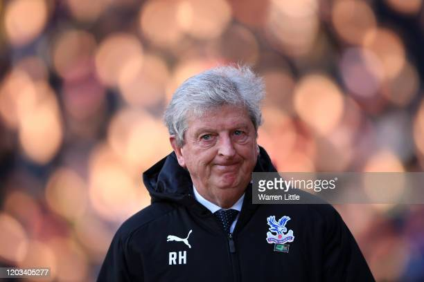 Roy Hodgson, Manager of Crystal Palace looks on ahead of the Premier League match between Crystal Palace and Sheffield United at Selhurst Park on...