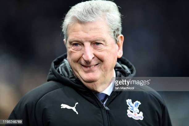 Roy Hodgson, Manager of Crystal Palace looks on prior to the Premier League match between Newcastle United and Crystal Palace at St. James Park on...