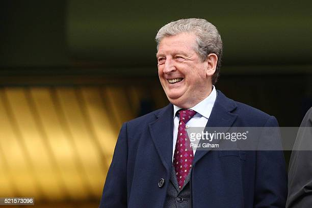 Roy Hodgson Manager of England looks on from the stands during the Barclays Premier League match between Chelsea and Manchester City at Stamford...