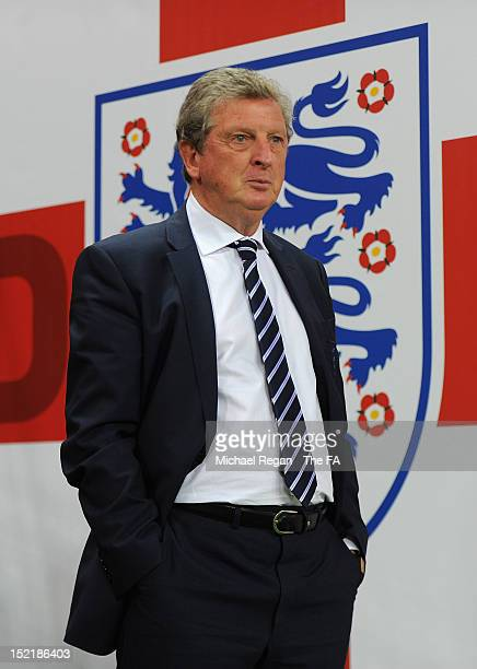 Roy Hodgson, manager of England looks on from the tunnel prior to the FIFA 2014 World Cup qualifier group H match between England and Ukraine at...