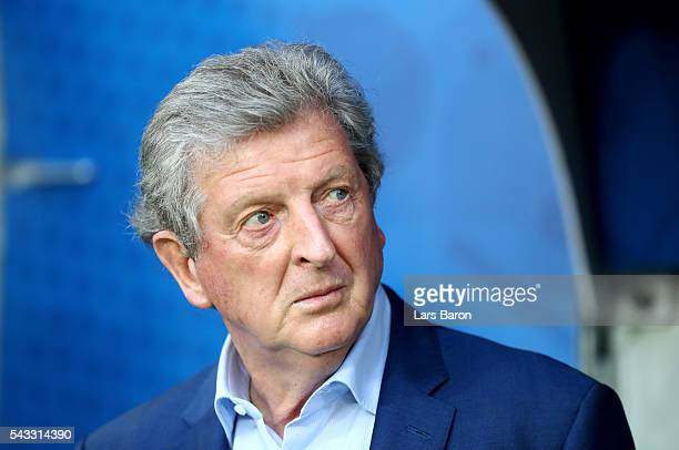 Roy Hodgson manager of England looks on prior to the UEFA EURO 2016 round of 16 match between England and Iceland at Allianz Riviera Stadium on June...