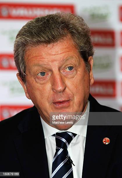 Roy Hodgson manager of England pictured during the Vauxhall's Road to Brazil Home Nations Managers Press Conference at the HAC on August 24 2012 in...