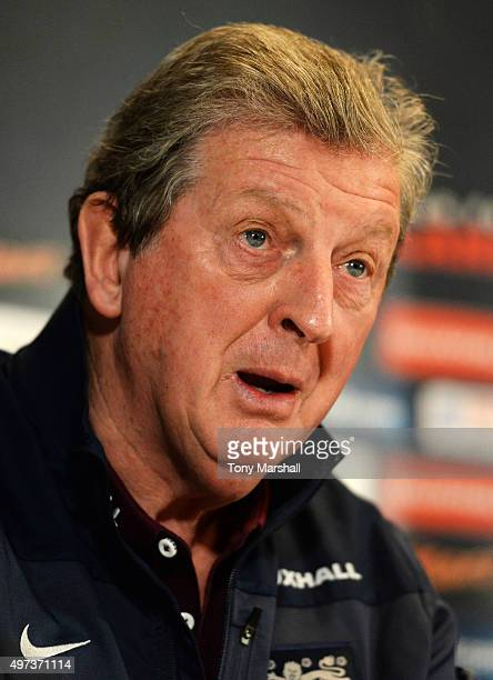 Roy Hodgson Manager of England speaks during the England Press Conference at The Grove Hotel on November 16 2015 in Hertford England