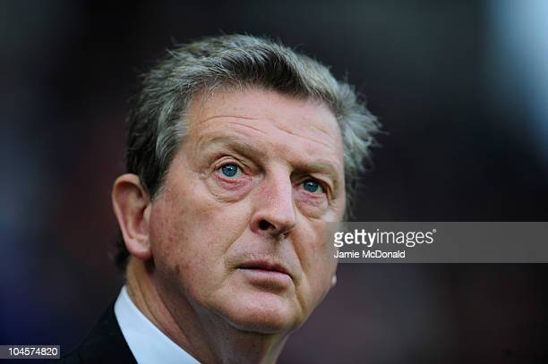 Roy Hodgson manager of Liverpool looks on during the UEFA Europa League match between FC Utrecht and Liverpool at the Stadion Galgenwaard on...