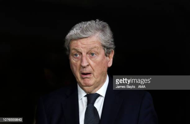 Roy Hodgson the manager / head coach of Crystal Palace during the Premier League match between Wolverhampton Wanderers and Crystal Palace at Molineux...